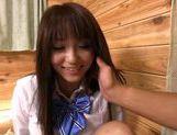 Big titted teen Yui Sakura fucked in her school uniform picture 12