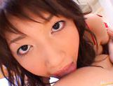 Erika Satoh Japanese doll rides a big dildo picture 10