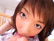 Erika Satoh Japanese doll rides a big dildo