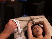 Slim Japanese doll Marie Konishi dominated in hardcore bondage