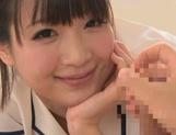 Cumshot fever of a horny Asian Mayu Kamiya picture 15