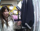 Exquisite Saki Kobashi engulfs cock in a clothing store picture 15