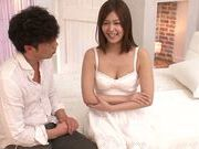 Asian cutie with small tits Hikaru Konno enjoys hardcore bang