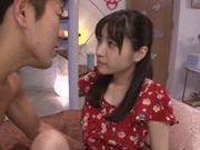 Kinky Japanese teen girl Moka Sakue is banged really hard