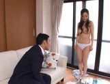 Pretty milf Kaori Saejima cock sucking with vibrator pleasure picture 12