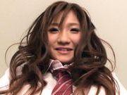 Hinami Kawasumi Pretty Asian model in a very short skirt