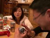 Japanese milf gets wild and horny on date picture 12