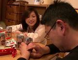 Japanese milf gets wild and horny on date picture 13