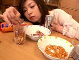 Japanese milf gets wild and horny on date picture 14