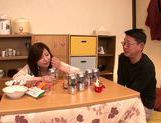 Japanese milf gets wild and horny on date picture 9
