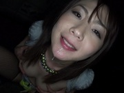 Harsh blowjob in the club from drunk Ayako Kanouhot asian pussy, sexy asian}
