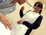 Hot looking milf Miina Kanno big titty nurse rides cock