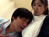 Hot looking milf Miina Kanno big titty nurse rides cock picture 3