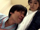 Hot looking milf Miina Kanno big titty nurse rides cock picture 4
