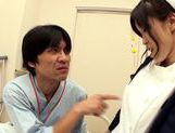 Hot looking milf Miina Kanno big titty nurse rides cock picture 7