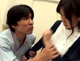 Hot looking milf Miina Kanno big titty nurse rides cock picture 9