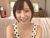 Frisky Asian cutie Ayumi Kimino gets a massive facial picture 1