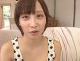 Frisky Asian cutie Ayumi Kimino gets a massive facial picture 5