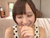 Frisky Asian cutie Ayumi Kimino gets a massive facial picture 7