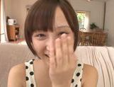 Frisky Asian cutie Ayumi Kimino gets a massive facial picture 9