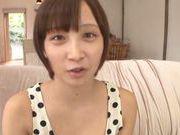 Frisky Asian cutie Ayumi Kimino gets a massive facial