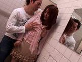 Beautiful chick Kaede Matsushima gets cum on her face