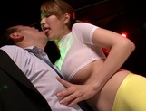 Young Japanese kissing and stroking a big cock on camasian babe, asian women}