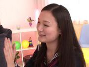 Shameless Asian schoolgirl Fuuga Kagawa is a cock teasenude asian teen, young asian}