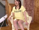 Very sexy Asian AV teen Suzuki Kokoba enjoys masturbation picture 5