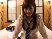 Kirara Asuka Lovely Japanese doll shows off nice pussy