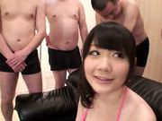 Busty hot milf Rie Tachikawa gets nailed in group session