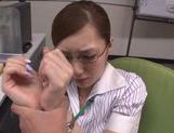 Hot milf chick Kaede Fuyutsuki in office suit fucking like mad picture 2