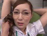 Hot milf chick Kaede Fuyutsuki in office suit fucking like mad