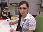 Hot milf chick Kaede Fuyutsuki in office suit fucking like mad