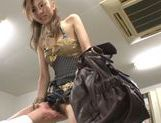 Savoury Japanese teen Arisa Aizawa gets her kitty teased picture 5