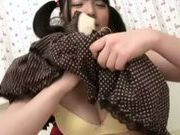Japanese pigtailed beauty Ai Uehara enjoys pussy creampies