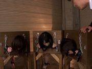 Enslaved beauties Tokita Aimi, Uehara Ai and Ayukawa Chisato