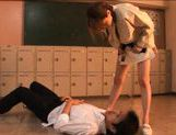 Akiho Yoshizawa Asian model gives a hot blowjob
