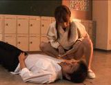 Akiho Yoshizawa Asian model gives a hot blowjob picture 8