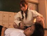 Akiho Yoshizawa Asian model gives a hot blowjob picture 9