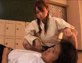 Akiho Yoshizawa Asian model gives a hot blowjob