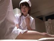 Hot Japanese teen cock lover Azusa Kato gives a nice handjobasian women, young asian}