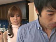 Pretty Japanese AV model Ramu Hoshino gets pounded hard