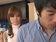 Pretty Japanese AV model Ramu Hoshino gets pounded hard