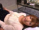 Busty Asian AV model Shiori Kamisaki gets hot facial cumshot