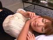 Busty Asian AV model Shiori Kamisaki gets hot facial cumshot