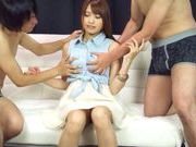 Nastiest group action with Suzu Minamoto dick riding pleasures