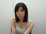 Big-tittied Japanese AV model enjoys headfuck and pussy banging