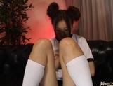 Yamasaki Honoka Asian teen plays with dildo