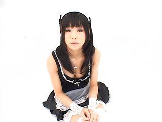 Chika Ishihara is sweet in her sexy costume